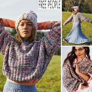 FREE PEOPLE Confetti Cropped Super Soft Pullover